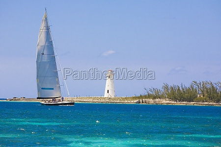 sailboat in the sea paradise beach