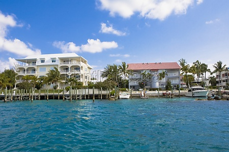 buildings at the waterfront paradise island