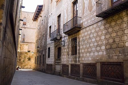 buildings along a street barcelona spain