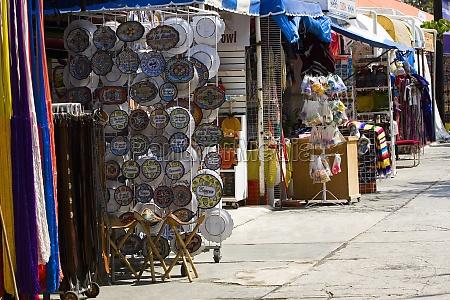 market stalls in a city market