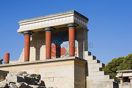 old ruins of a palace knossos
