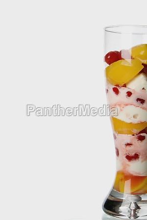 closeup of an icecream sundae
