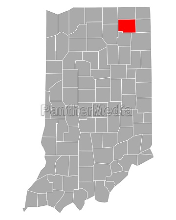 map of noble in indiana