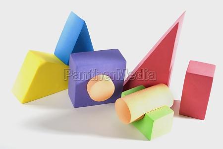 closeup of toys