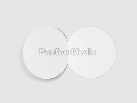 blank bi fold round brochure