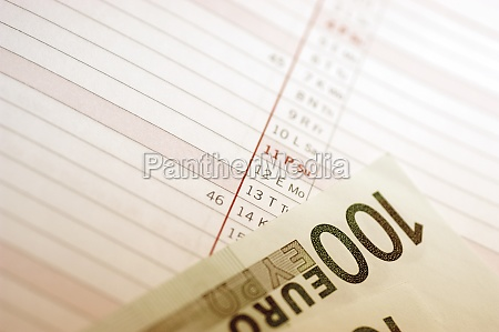 one 100 euro bank note on