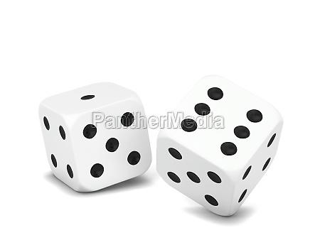 plastic gaming dice