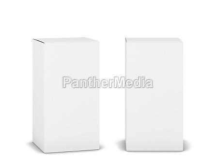 blank cardboard box mockup