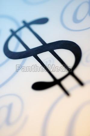 close up of a dollar sign