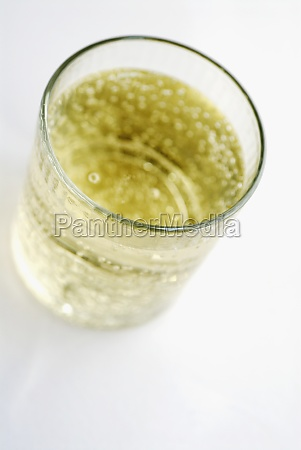 high angle view of soda in