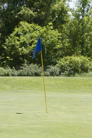 golf flag on a golf course