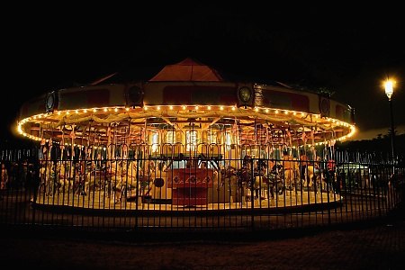 close up of a carousel