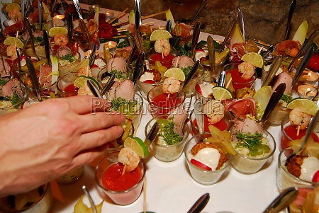 canapes as finger food snacks in