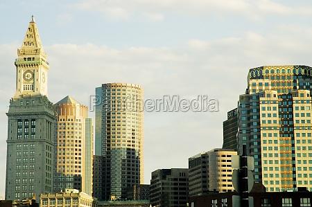 skyscrapers in a city boston massachusetts