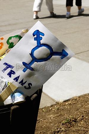 close up of gay pride symbol