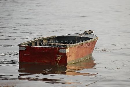 boat anchored at the port taganga