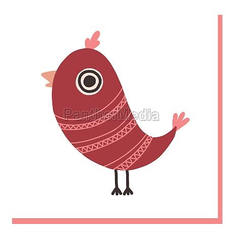 decorative bird hand drawn bird in