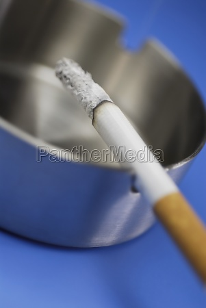 closeup of a cigarette in an