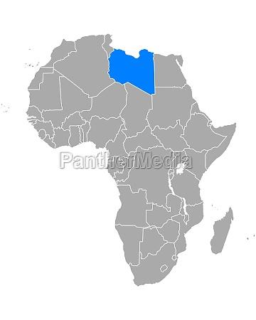 map of libya in africa