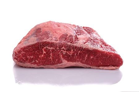 raw wagyu roast beef on white