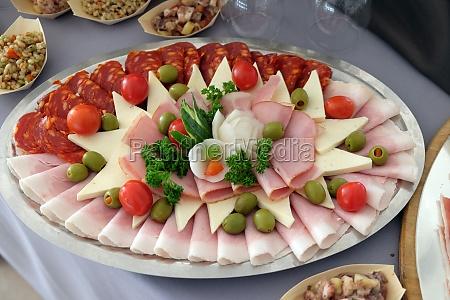 classic croatian starter plate with fine