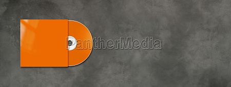 orange cd dvd mockup template