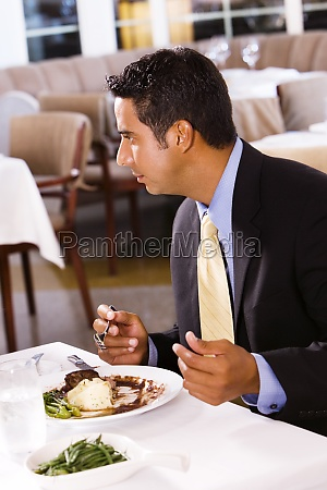 close up of a businessman sitting