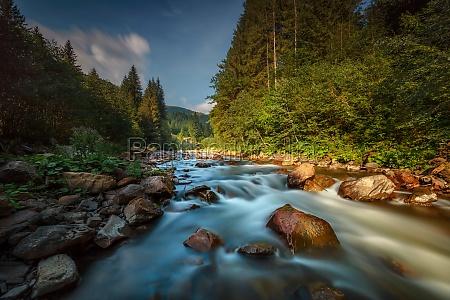 beautiful mountainous river