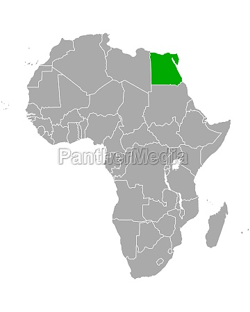 map of egypt in africa