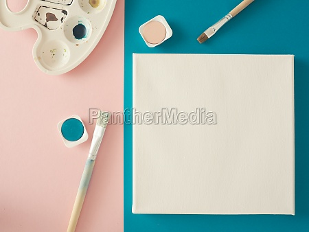invitation concept with a blank canvas