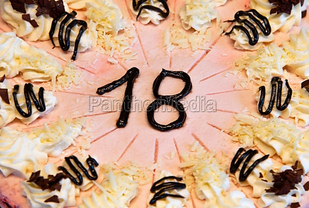 strawberry cream cake for the 18the