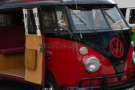 red vw t1 volkswagen transporter