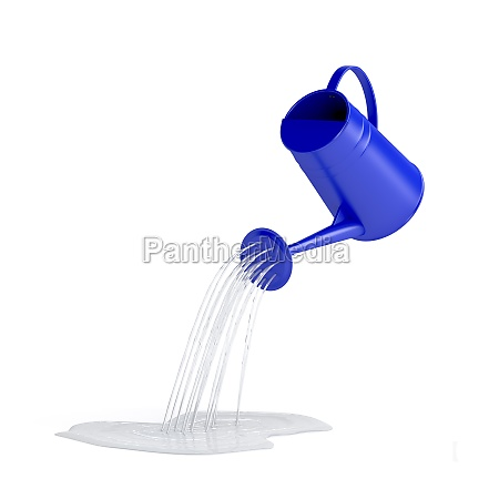 pouring water with watering can