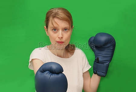female healthy boxing exercise