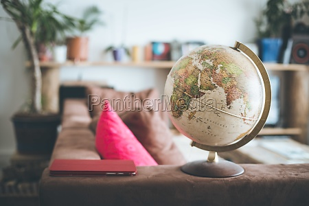 travel and journey concept globe standing