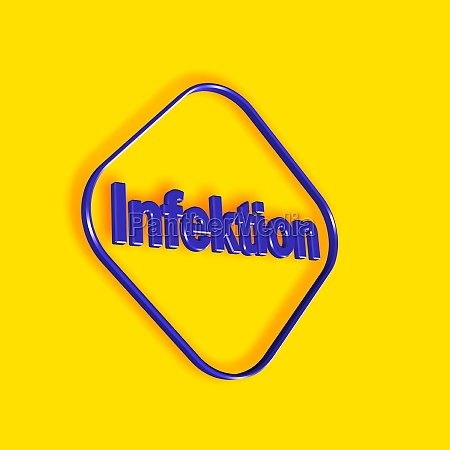 infection word or text as