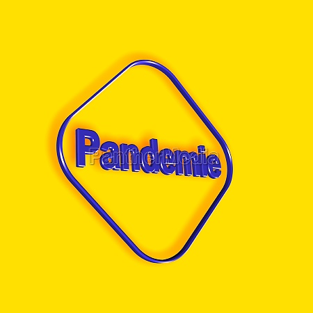 pandemic word or text as