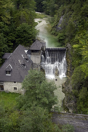 small hydroelectric power station in europe