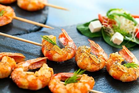 appetizing giant shrimp starter