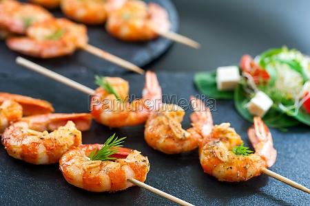 catering shrimp brochettes