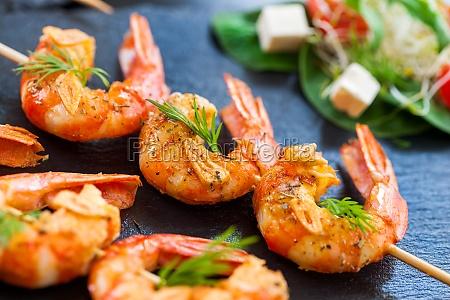 giant shrimp skewers