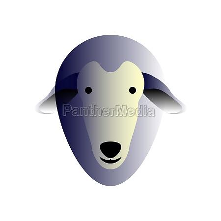 vector sheep in gradient style digital