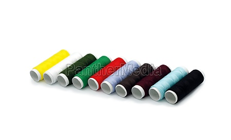 set of colored thread