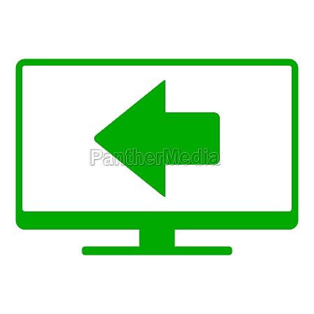 left arrow and screen