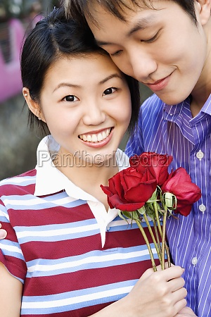close up of a young couple