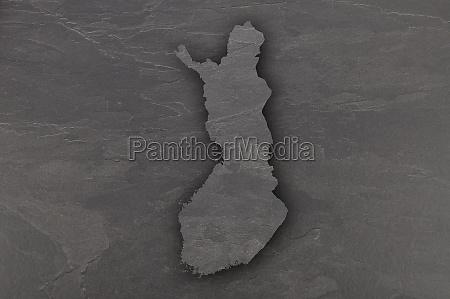 map of finland on dark slate