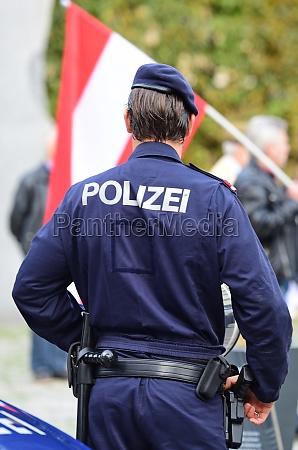 polizei einsatz und polizei kontrolle in