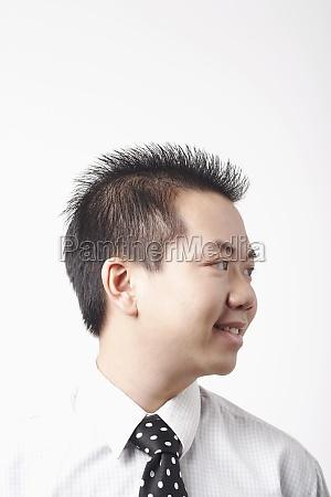 close up of a businessman smiling
