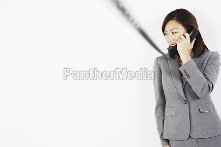 businesswoman talking on the telephone