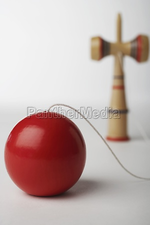 close up of a ball on